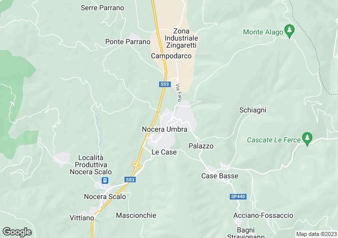 Map for Italy - Umbria, Perugia, Nocera Umbra