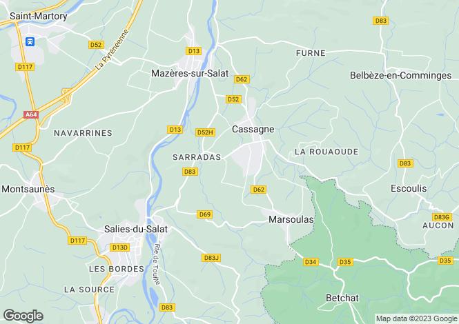 Map for cassagne, Haute-Garonne, France