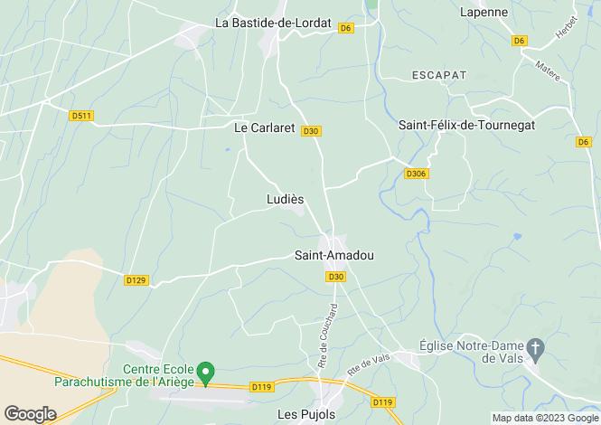 Map for St-Amadou, Ariège, Midi-Pyrénées