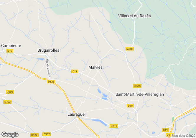 Map for Languedoc-Roussillon, Aude, Limoux