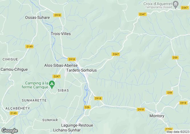 Map for Tardets-Sorholus, Pyrénées-Atlantiques, Aquitaine