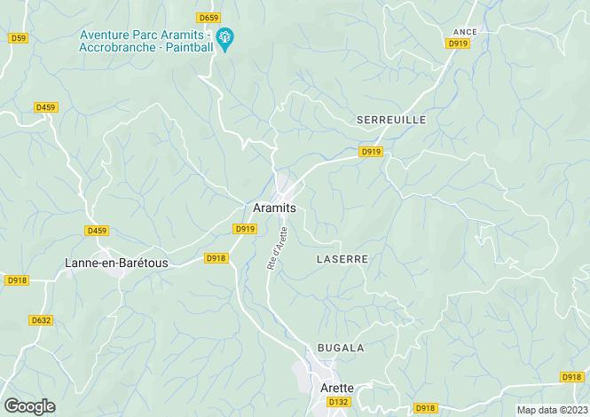 Map for Aramits, Pyrénées-Atlantiques, Aquitaine