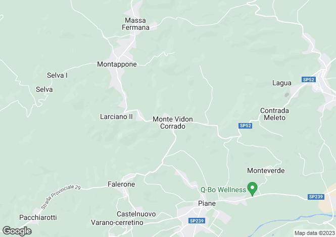 Map for Monte Vidon Corrado, CONTRADA VALLEMARINA