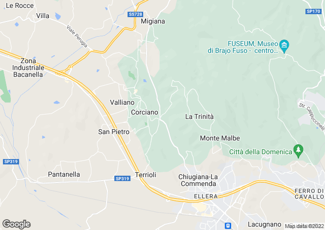 Map for Umbria, Perugia, Corciano