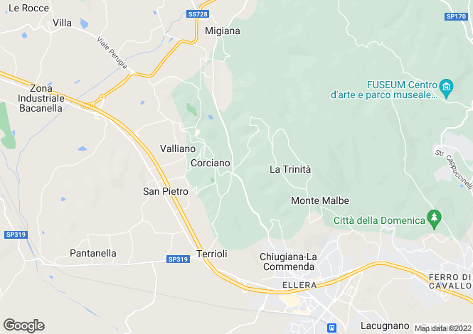 Map for Corciano, Perugia, Umbria