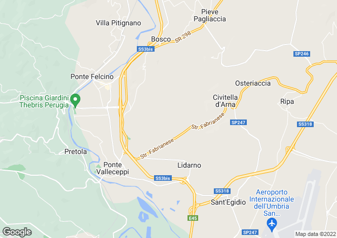 Map for Bosco, Umbria, Italy