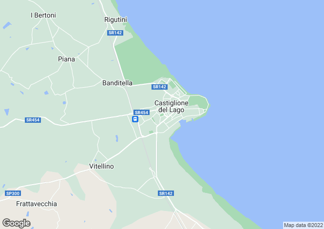 Map for Umbria, Perugia, Castiglione del Lago