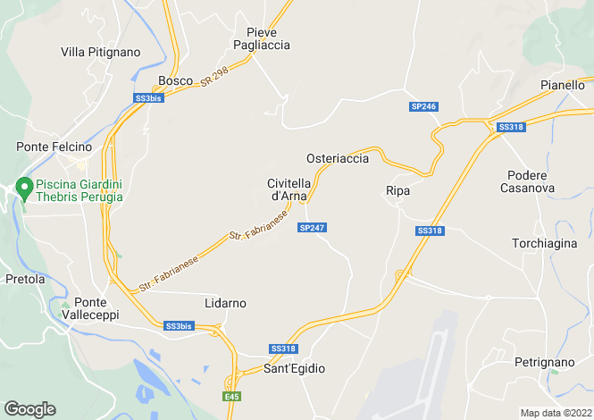 Map for Perugia, Perugia, Umbria