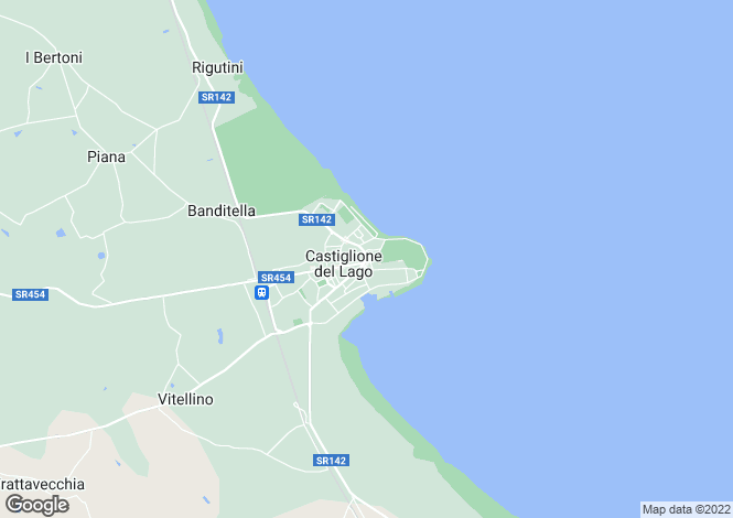 Map for Castiglione Del Lago, Umbria, Italy