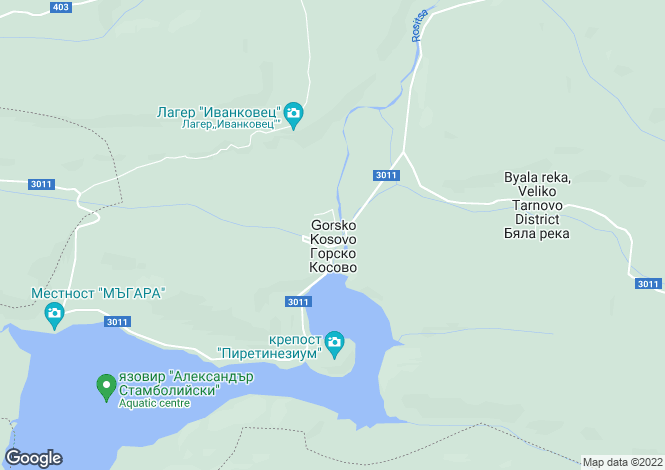 Map for Veliko Tarnovo, Sukhindol