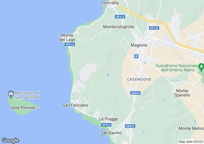 Map for Magione, Perugia, Umbria