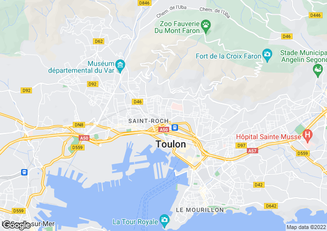 Map for TOULON, Provence Coast, Provence - Var,