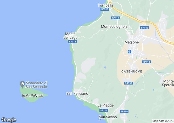 Map for Umbria, Perugia, Magione