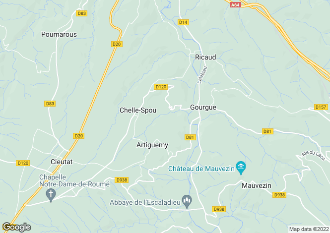 Map for chelle-spou, Hautes-Pyrénées, France
