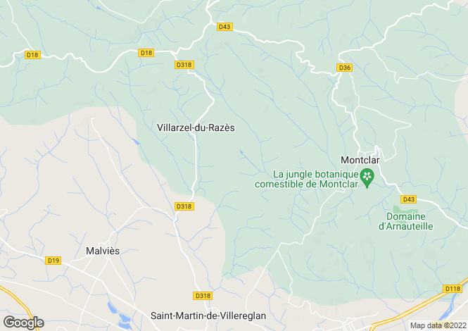 Map for villarzel-du-razes, Aude, France