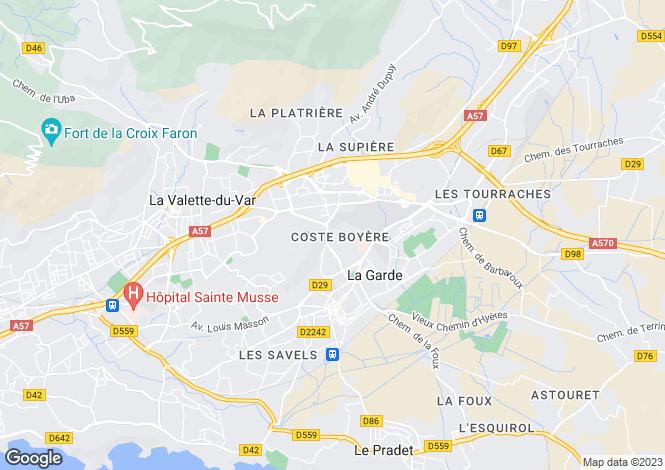 Map for La Garde, Domaine de Fontcouverte