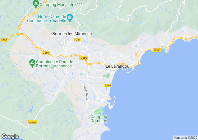 Map for Provence-Alps-Cote d`Azur, Var, Le Lavandou