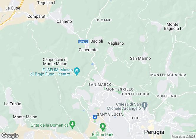 Map for Strada Ponte d'Oddi, Perugia, Umbria