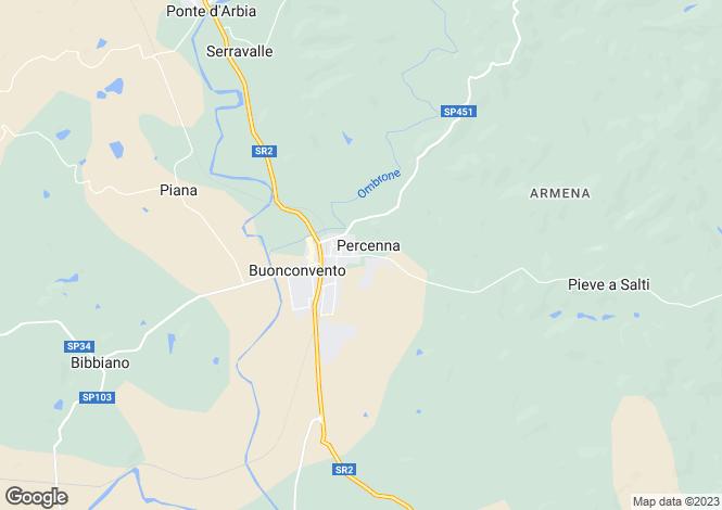 Map for Via Percenna, Buonconvento, Tuscany