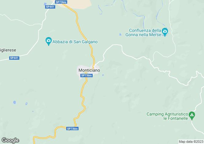 Map for Monticiano, Tuscany, Italy