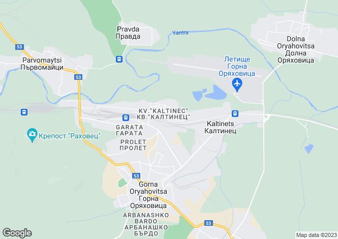 Map for Gorna Oryakhovitsa, Veliko Tarnovo