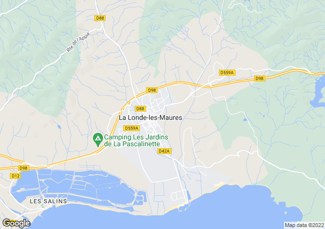 Map for La Londe-les-Maures, 83250, France