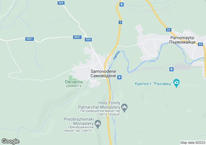 Map for Samovodene, Veliko Tarnovo