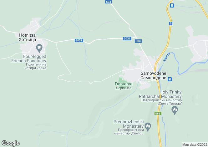 Map for Samovodene, municipality Veliko Tarnovo