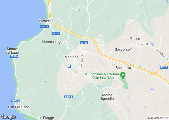 Map for Umbria, Perugia, Magione