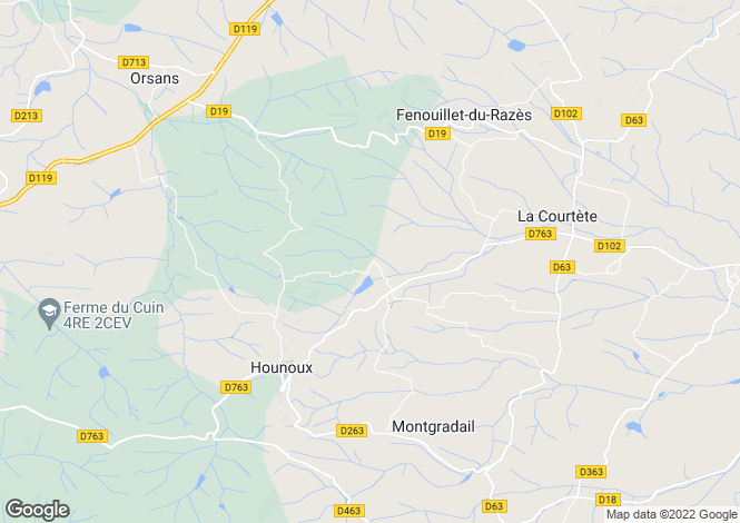 Map for La Courtete, Aude