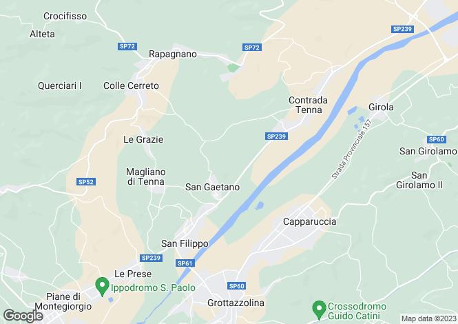Map for Montegiorgio, Fermo, Le Marche