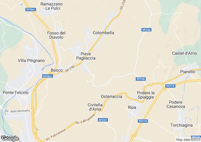 Map for Umbria, Perugia, Perugia