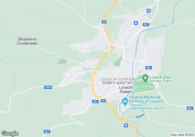 Map for Lovech, Lovech