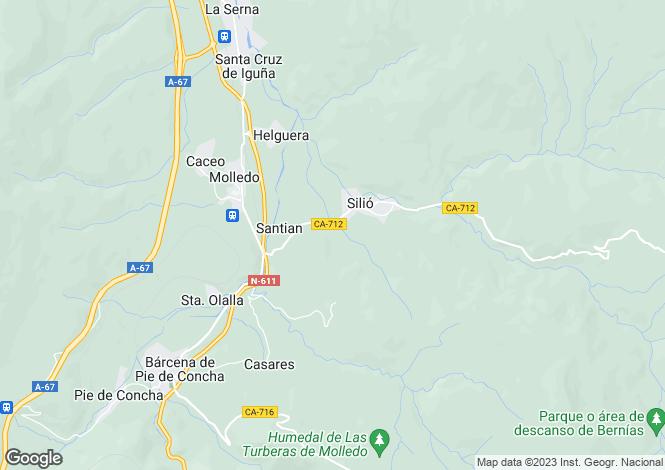 Map for Molledo, Santander, Cantabria