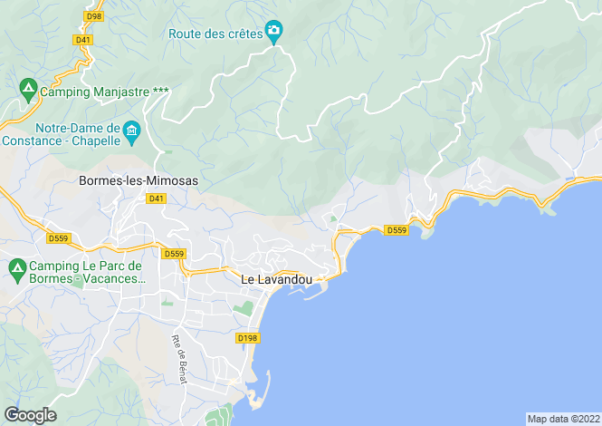 Map for Provence-Alps-Cote d`Azur, Var, Le Lavandou