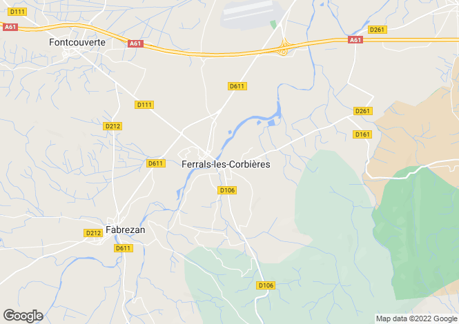 Map for ferrals-les-corbieres, Aude, France