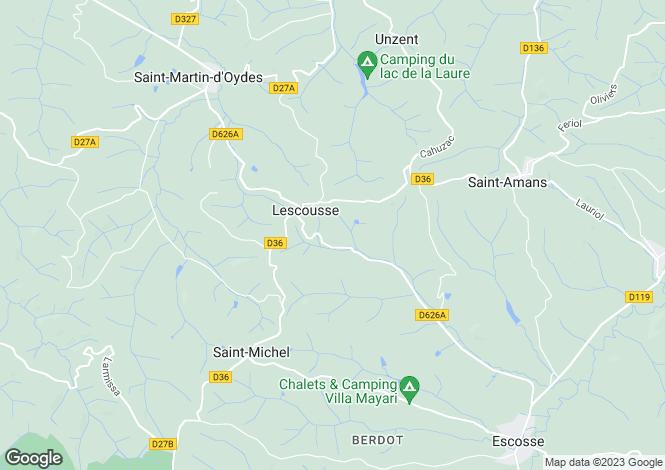 Map for lescousse, Ariège, France