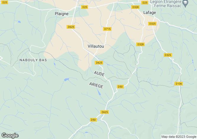 Map for villautou, Aude, France