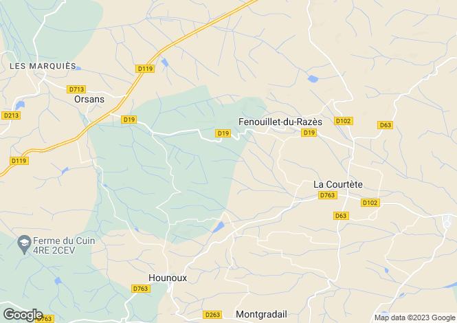 Map for 11240 FENOUILLET-DU-RAZES, Aude, France