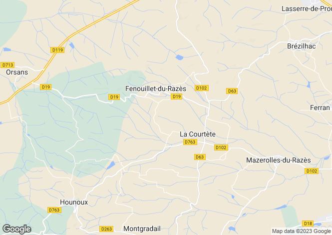 Map for la-courtete, Aude, France
