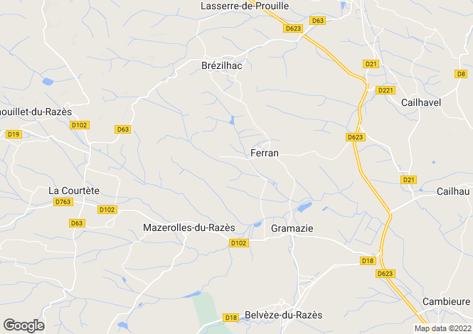 Map for 11240 FERRAN, Aude, France