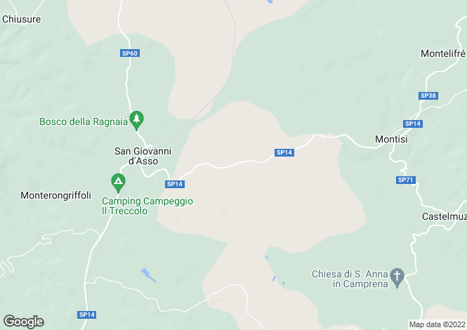 Map for Tuscany, Siena, San Giovanni d`Asso