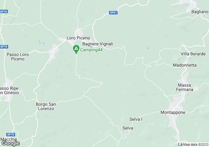 Map for Le Marche, Macerata, Loro Piceno