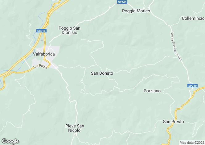 Map for Umbria, Perugia, Valfabbrica