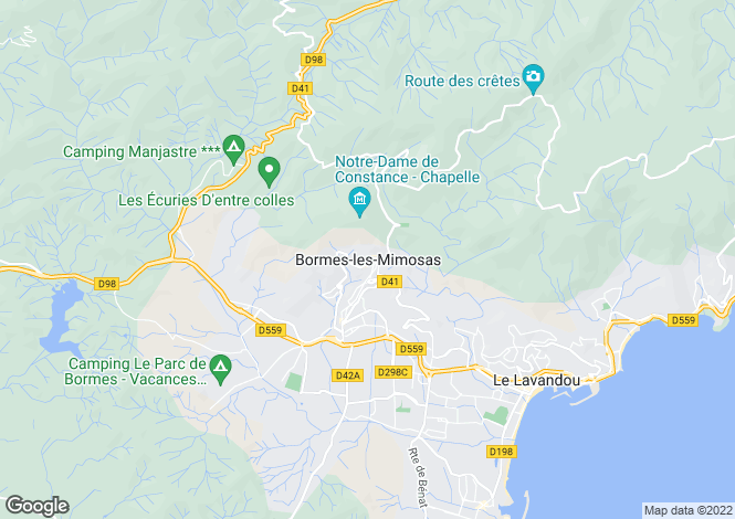 Map for Bormes-Les-Mimosas, Var, 83230, France