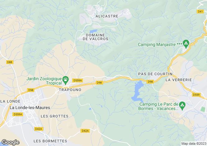 Map for La Londe-les-Maures, Var, Provence-Alps-Cote d`Azur