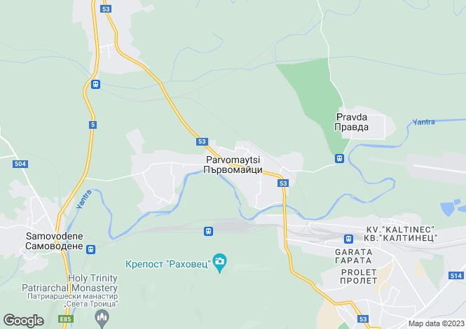 Map for Parvomaytsi, Veliko Tarnovo