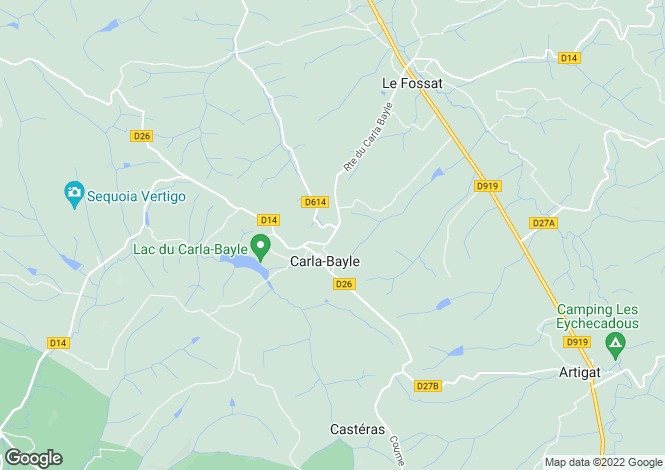 Map for Midi-Pyrenees, Ariège, Carla-Bayle