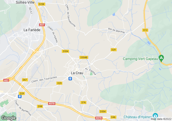 Map for Provence-Alps-Cote d`Azur, Var, La Crau