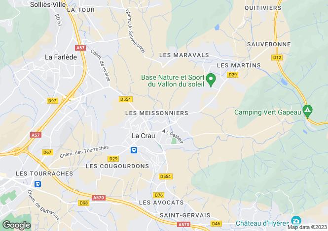Map for LA CRAU, Provence Coast, Provence - Var,